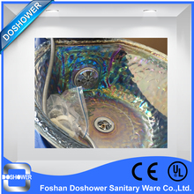 DS luxury customized colorful glass bowls for pedicure spa chair(China (Mainland))