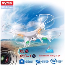 SYMA X5C-1 Syma X5C Syma X5 4CH 6-Axis Gyro RC Helicopter Drone With Flashing Ligh 2MP HD Camera + Extra 850mAh Battery as gift