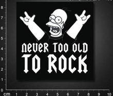 Rock die! Suitcase stickers / car, bike, skateboard sticker / personalized stickers