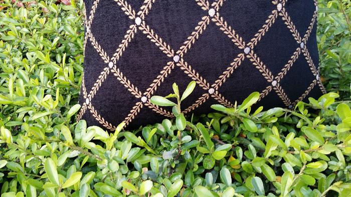 2016 Carbon Diamond Lattice Chenille Woven Cushion Cover Invisible Zipper Closure Sofa Pillow Case
