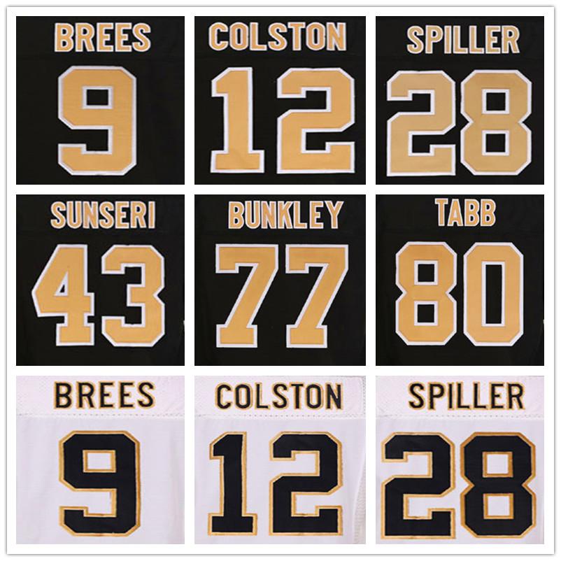 9 Drew Brees jerseys 12 Marques Colston black 94 Cameron Jordan 28 CJ Spiller 44 Hau'oli Kikaha jerseys 22 Mark Ingram white(China (Mainland))