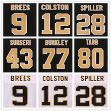 9 Drew Brees jerseys 12 Marques Colston black 94 Cameron Jordan 28 CJ Spiller 44 Hau'oli Kikaha jerseys 22 Mark Ingram white(China (Mainland))