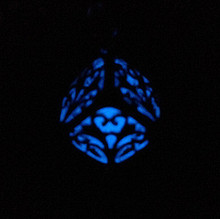 Pretty Magic Round Fairy Locket Glow In The Dark Necklace