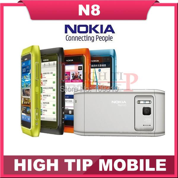 "Nokia Unlocked original 3G mobile phone N8 GSM WIFI GPS 12MP Touchscreen 3.5"" 16GB Internal free shipping Refurbished(China (Mainland))"