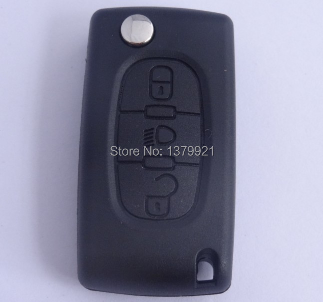3button remote key shell for Citroen C4 C5 Light Symbol KEY FOB REMOTE CASE