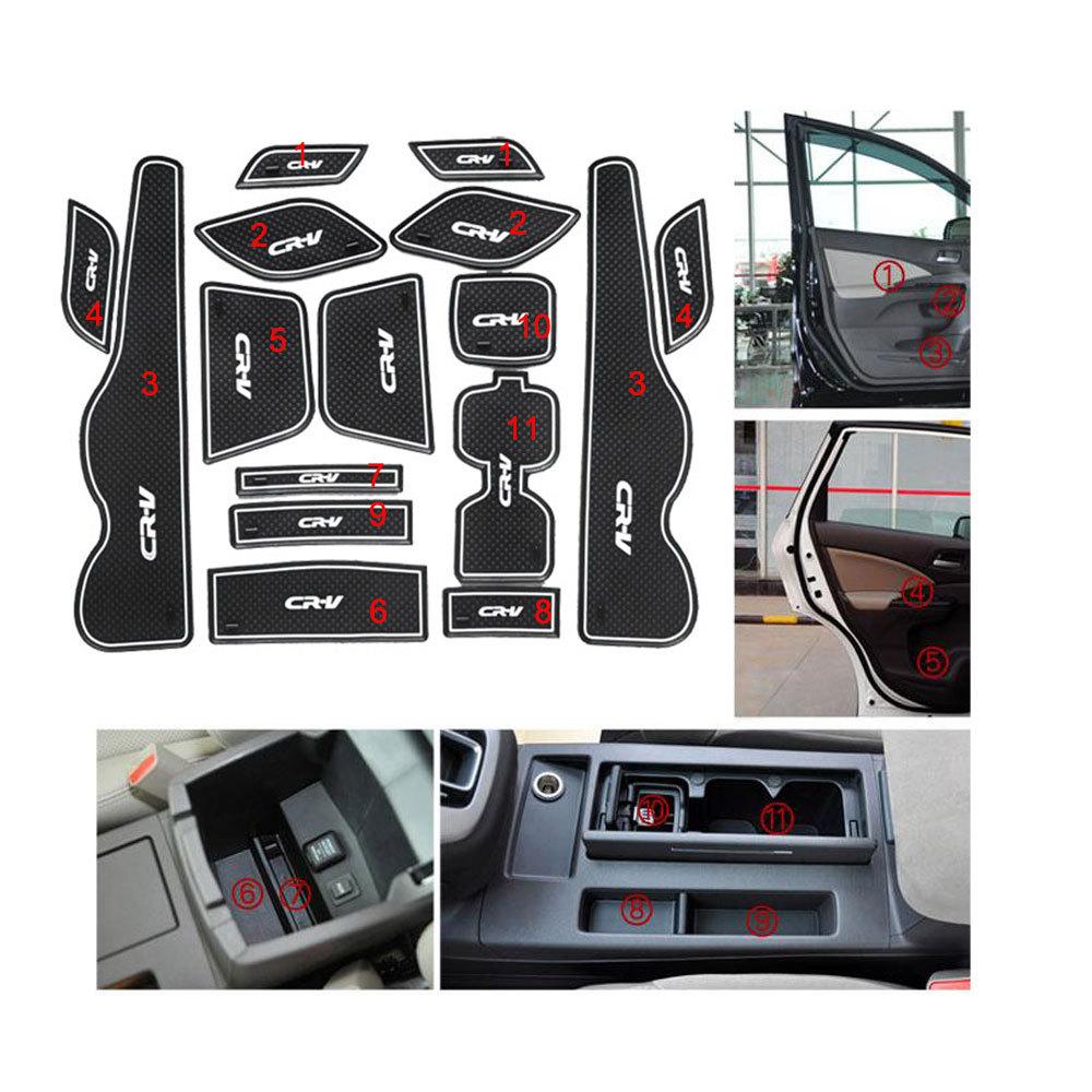 Anti-slip Interior door pad/Luminous mat door gate slot mat for Honda CRV 2012-2013, 15 pcs/lot ,auto accessories(China (Mainland))