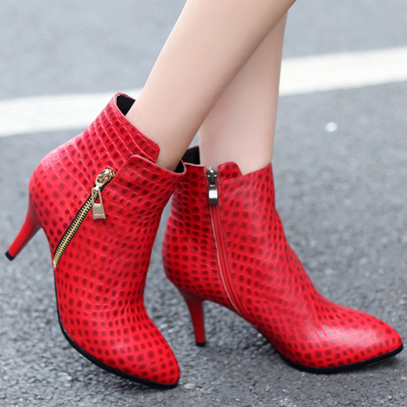 Здесь можно купить  2016 new arrive zipper ankle boots pointed toe stiletto high heels women shoes fashion genuine leather autumn boots  2016 new arrive zipper ankle boots pointed toe stiletto high heels women shoes fashion genuine leather autumn boots  Обувь
