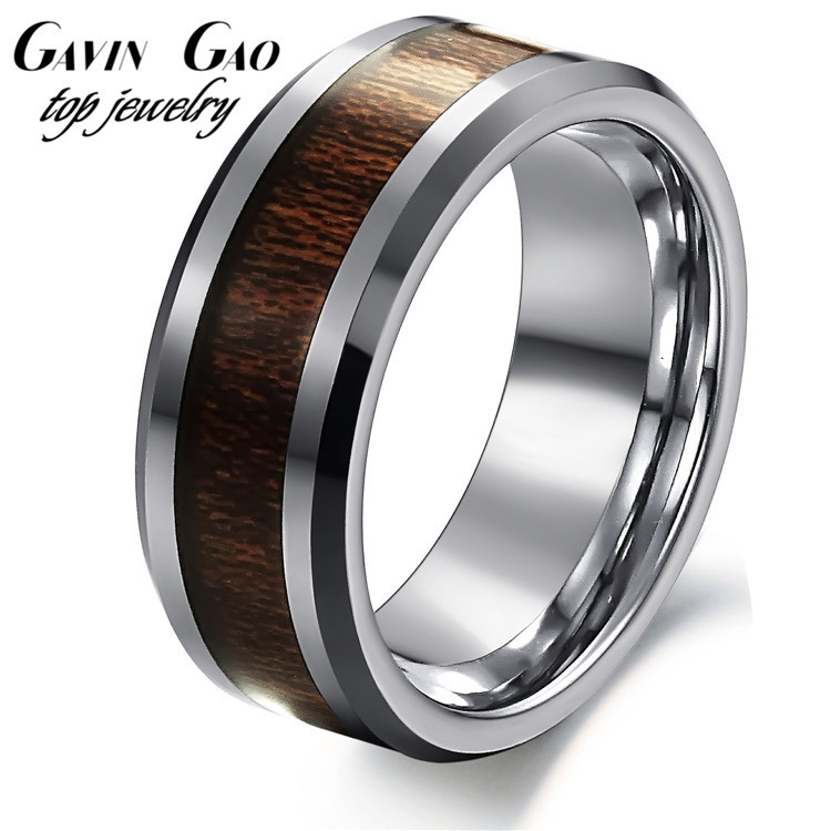 Top Quality OPK Brand Carbon Fiber Pure Tungsten Steel Black Ceramic Rings For Men Party Jewelry(China (Mainland))