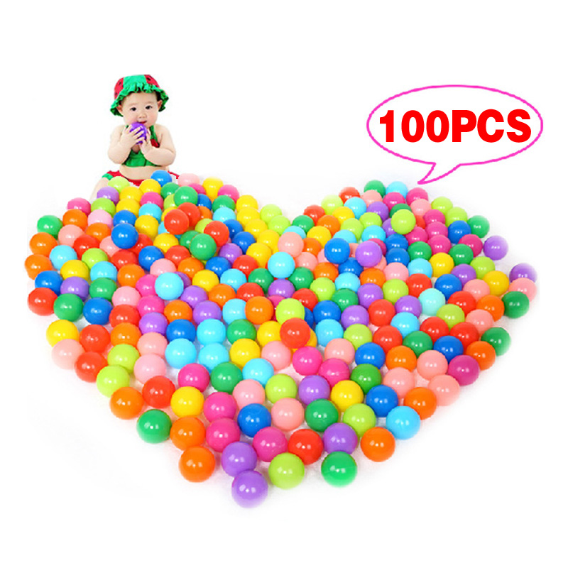 100Pcs Colorful Ball Ocean Balls Soft Plastic Ocean Ball Baby Kid Swim Pit Toy High Quality FJ88(China (Mainland))
