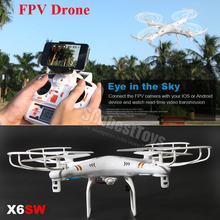 X6SW Real-Time Transmission Quadcopter IOS/Android WiFi FPV Camera Drone vs X5SW,X300,X600 Live Video RC Helicopter(China (Mainland))