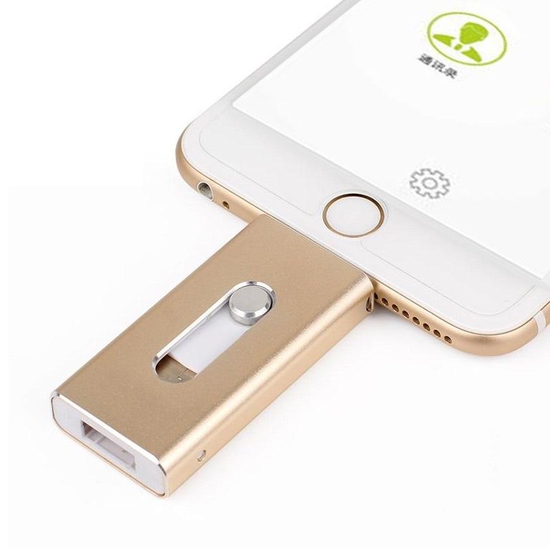 Special offer Phone OTG USB Flash Drive for iphone 6/5 ipad lightning Pen drive 8g 16gb 32gb 64gb iFlash Driver + Micro usb(China (Mainland))