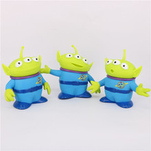 3pcs Toy Story Alien Figures Big Size 15cm PVC Alien Action Figure Doll Kids Birthday Gift Party Favor For boys Girls Oyuncak(China (Mainland))
