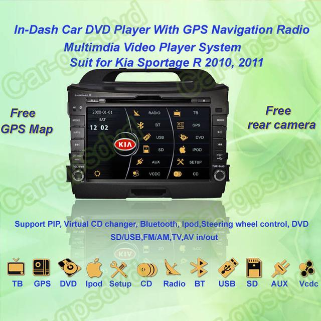 2010- 2012 Kia Sportage Car DVD Player ,with GPS Navi,Multimedia Video Radio Player system+Free GPS map+Free shipping!!!