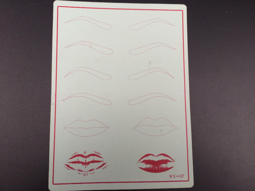 5Pcs S Fake Skin 15cm x 20cm Permanent Makeup Practice Skin Fits For Eyebrows Lip Practise Makeup For Beginners(China (Mainland))