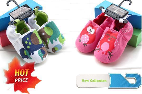 Hot sale baby cartoon cotton fabric shoes prewalker toddler antiskid overshoes booties warm footwear first walkers 6pairs/lot