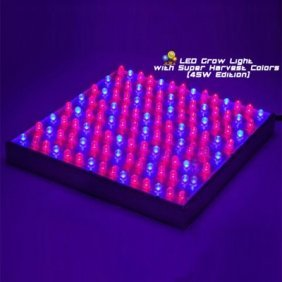 Hot Sell High Quality Factory Direct Supply High Power 45W Hydroponic 112 LED Grow Light Panel with Super Harvest Colors