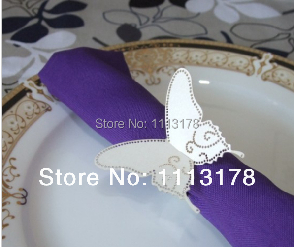 cheap paper napkin ring beautiful butterfly napkin holder wedding