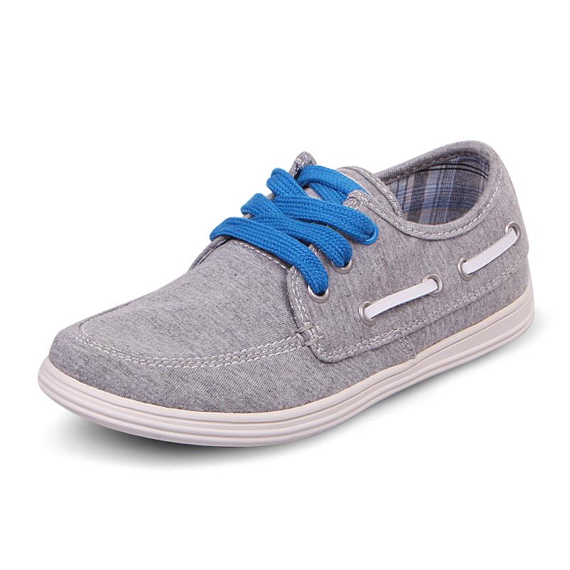 UOVO 2015 canvas shoes boys children textile denim casual lace closure Eur size: 28-38