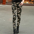 2016 Army Fashion Women Pants Female Casual Military Denim Trousers Tight Elastic High Waist Camouflage Pencil