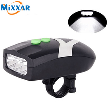 Buy ZK20 3 LED Bike Light Bicycle Light Waterproof White Front Head Light Cycling Lamp & Electronic Bell Horn Hooter Siren for $2.88 in AliExpress store