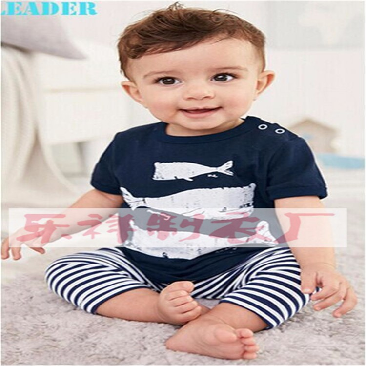 2016 summer baby fashion style baby boy clothes set, baby girl clothes soft and comfortable T-shirt + pants 2pcs sets