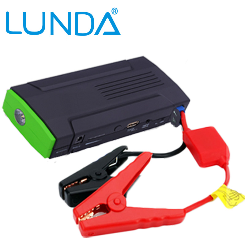 LUNDA Car Jump Starter power bank charger portable emergency 'for mobile diesel auto terminal kit, high-power(China (Mainland))