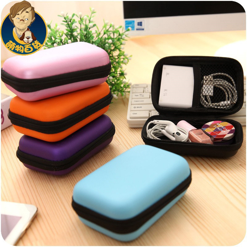 Hand Carry Case Cover Portable Pouch For Power Bank Earphone Cable HDD Hard Disk Drive Protect Bag Case Anti-knock VIA37 P18 0.4(China (Mainland))
