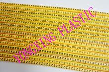 1300/lot EC-1 cable 2.5MM2 freeshipping carta ABCDEFGHIJKLMNOPQRSTUVWXYZ marcador 26 differnt carta traje cable 2.5 cuadrado