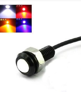 Car DIY 1 8Cm 9W 7000K 500 Lumen Waterproof Eagle Eye LED Daytime Running Brake Lamps