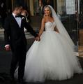 ZJ9022 2016 fashion Beads Crystal White Ivory Wedding Dress for brides plus size formal sweetheart 2