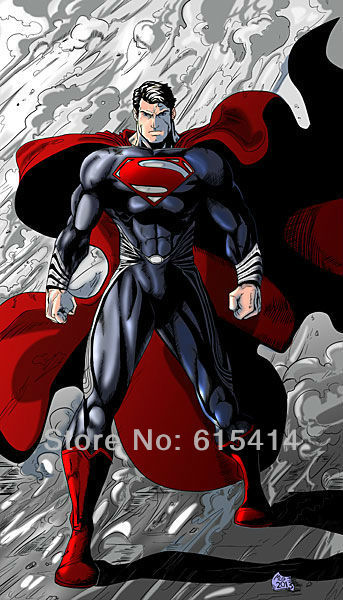 "45 Superman Man of Steel 2013 movie 24""x42"" inch wall Poster with Tracking Number"