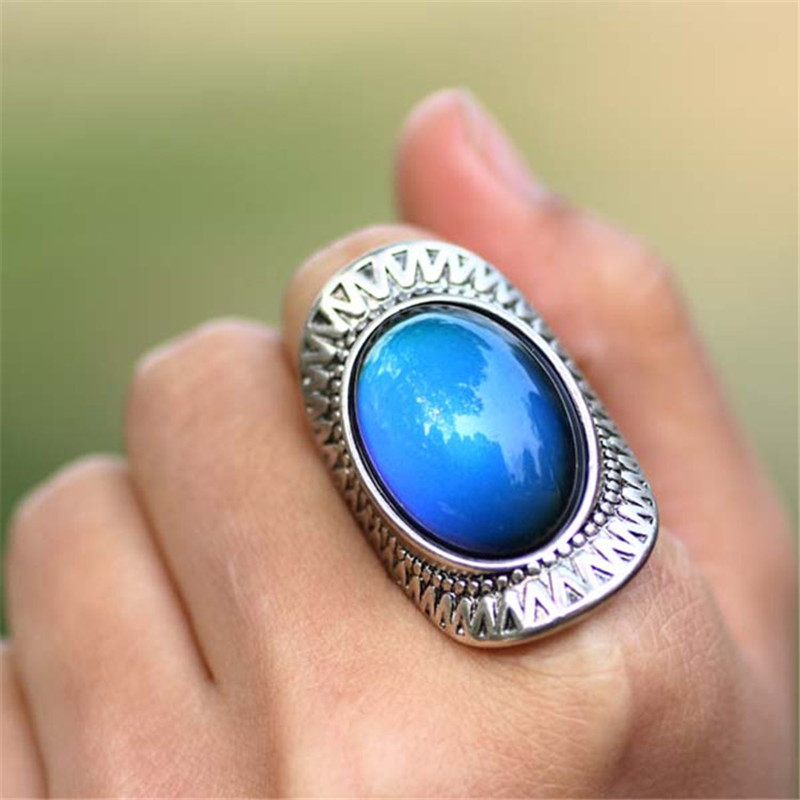 Color change mood ring emotion feeling changeable band for Fashion jewelry that won t change color
