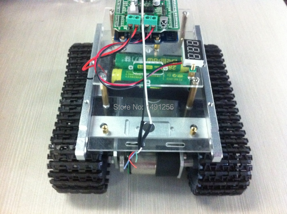 Silver version tank car chassis / bluetooth wireless remote control robot car with android mobile / wireless communication(China (Mainland))