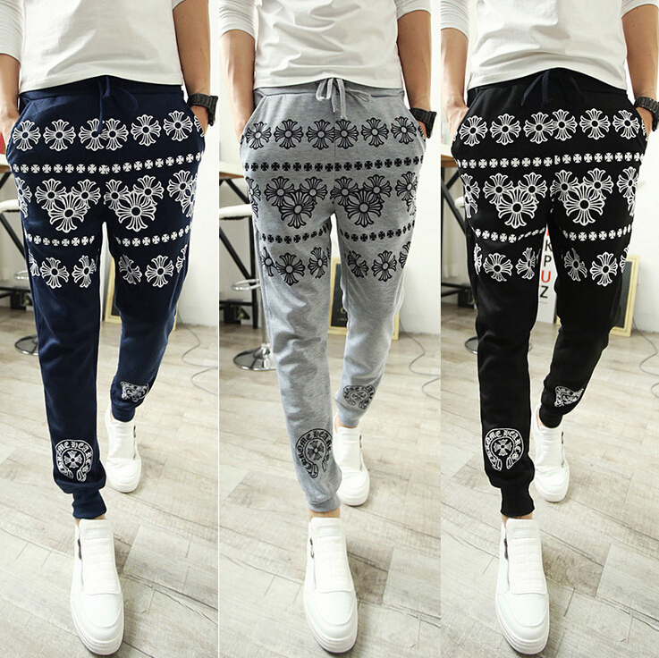 Flower Printed Pants Printed Jogging Pants Slim