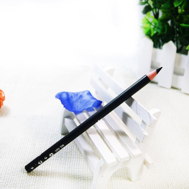1 Pcs Black Long Lasting Eye Liner Pencil Waterproof Eyeliner Smudge-Proof Cosmetic Beauty Makeup Liquid Eyeliner Pen Qibest