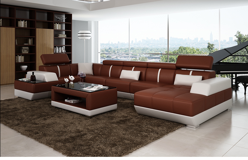 Modern sofa set living room furniture black leather for Modern living room chairs sale