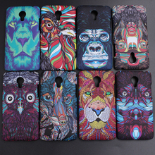 Phone Cover For Meizu M3 Note Case Fundas Colorful Hard Plastic Protector Case Forest Animal 3D Pattern Luminous Phone Cases