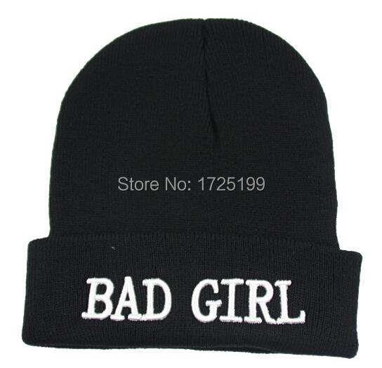 gorros de lana Bad Girl Beanies for Man and Woman Bad Boy Beanie Winter Hat gorras(China (Mainland))