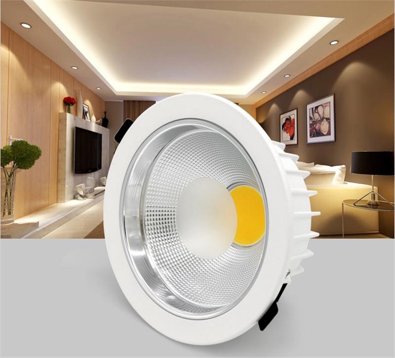 2015 NEW COB led downlight 7W 10W 15W 20W 30W 40W 50W LED Spot light led ceiling lamp AC110v 220v For Home Decoration(China (Mainland))