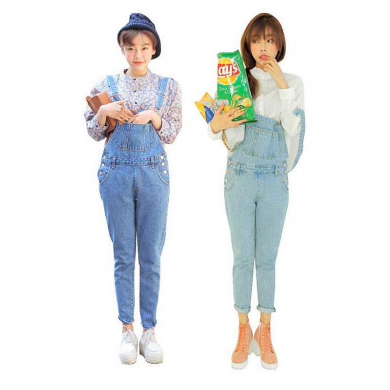 Rompers Women Jeans Jumpsuit 2016 Summer Style College Cute Pocket Denim Overalls Leisure Girls Wear macacao feminine 2 ColorsОдежда и ак�е��уары<br><br><br>Aliexpress