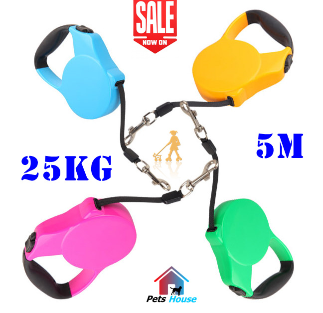 Top Quality 5M Pet Dog Leash retractable 15kg 20kg 25kg Pet Dog Rope Chain Product goods Walk the dog big medium small dog(China (Mainland))