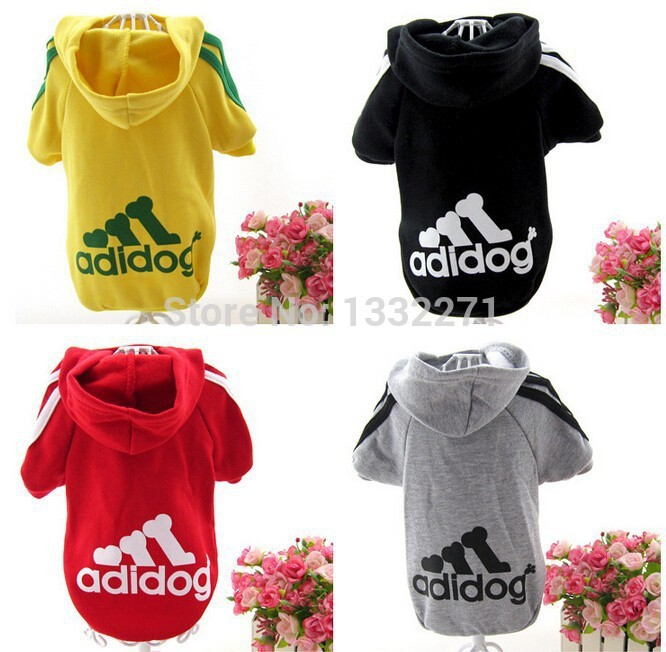 Hot Sale!2015 Spring Autumn Pet Puppy Dog Clothes Coat Hoodie Sweater XS-XXL 7 Colors Adidog Clothes Free Shipping(China (Mainland))