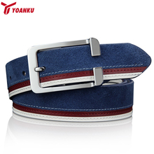 Buy YOANKU Luxury Brand Male Belt Mens Designer Belts High Genuine Leather Belts Men Strap Jeans cinto masculino for $12.99 in AliExpress store