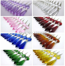 20pcs Chandelier Glass Crystals Lamp Prisms Parts Hanging Drops Pendants 10 Colors Available(China (Mainland))