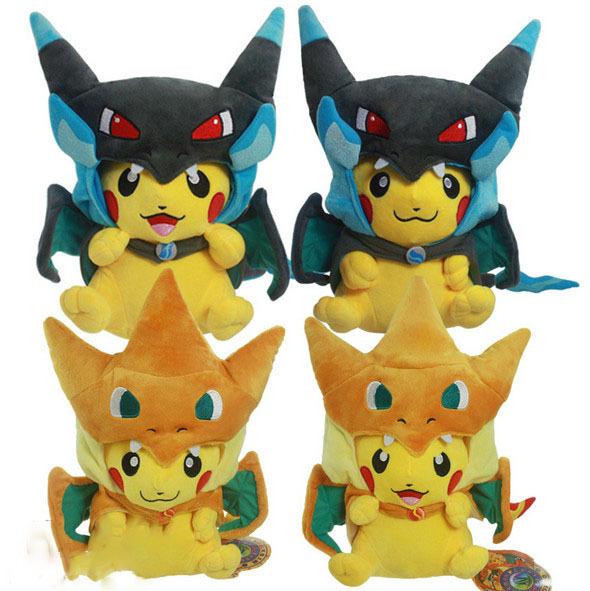 "Гаджет  Pokemon Plush Doll Stuffed Toy Pikachu Mega Charizard Y Pikazard 10"" 25cm / 13"" 35cm 4 Style None Игрушки и Хобби"