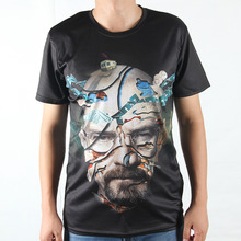 New Fashion Breaking Bad Printing Abstract T-shirts Men Casual 3D T Shirts Harajuku Tees Man Heisenberg Tshirts Summer Clothing