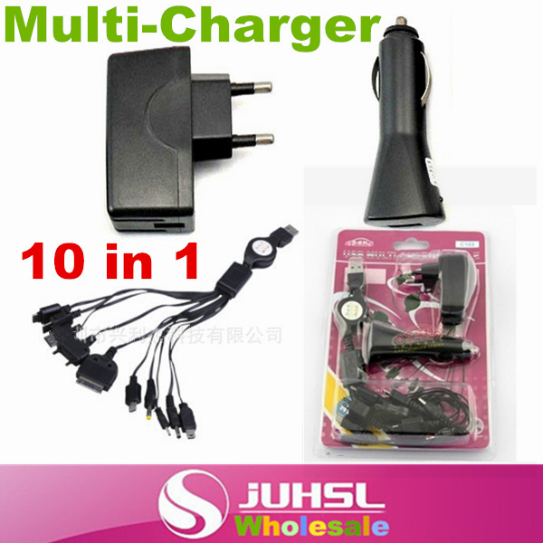 10 in 1 Multifunction USB retractable charging cable universal charger car charger Consumer Electronics Accessories Parts