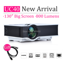 Russia Preferential UC40 Projector 800lumens Mini Pico Projectors portable Beamer proyector projektor Projection AV USB SD HDMI(China (Mainland))