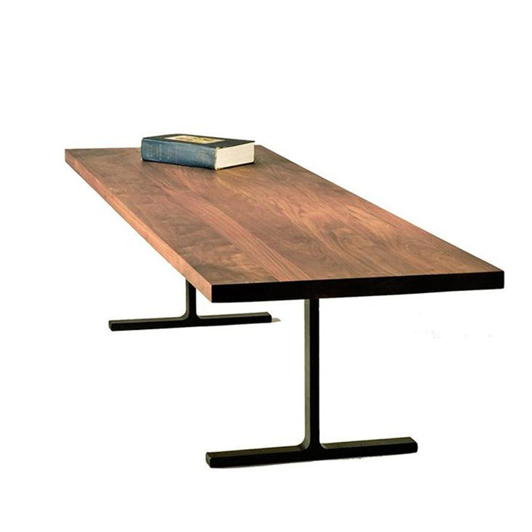 New Wrought Iron Wood Head Table Desk Long Table Made Of