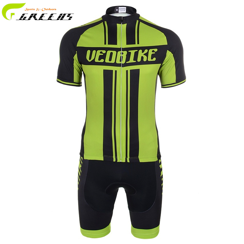 Men green and black Cycling Jersey Short Sleeve Jersey Bike Bicycle Clothing For Summer sports clothing(China (Mainland))